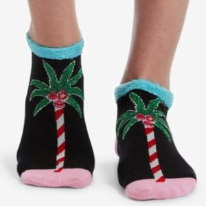 NWT Hue 2-pack Striped Palm Tree Christmas Socks